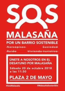 SOS MALASAÑA rojo